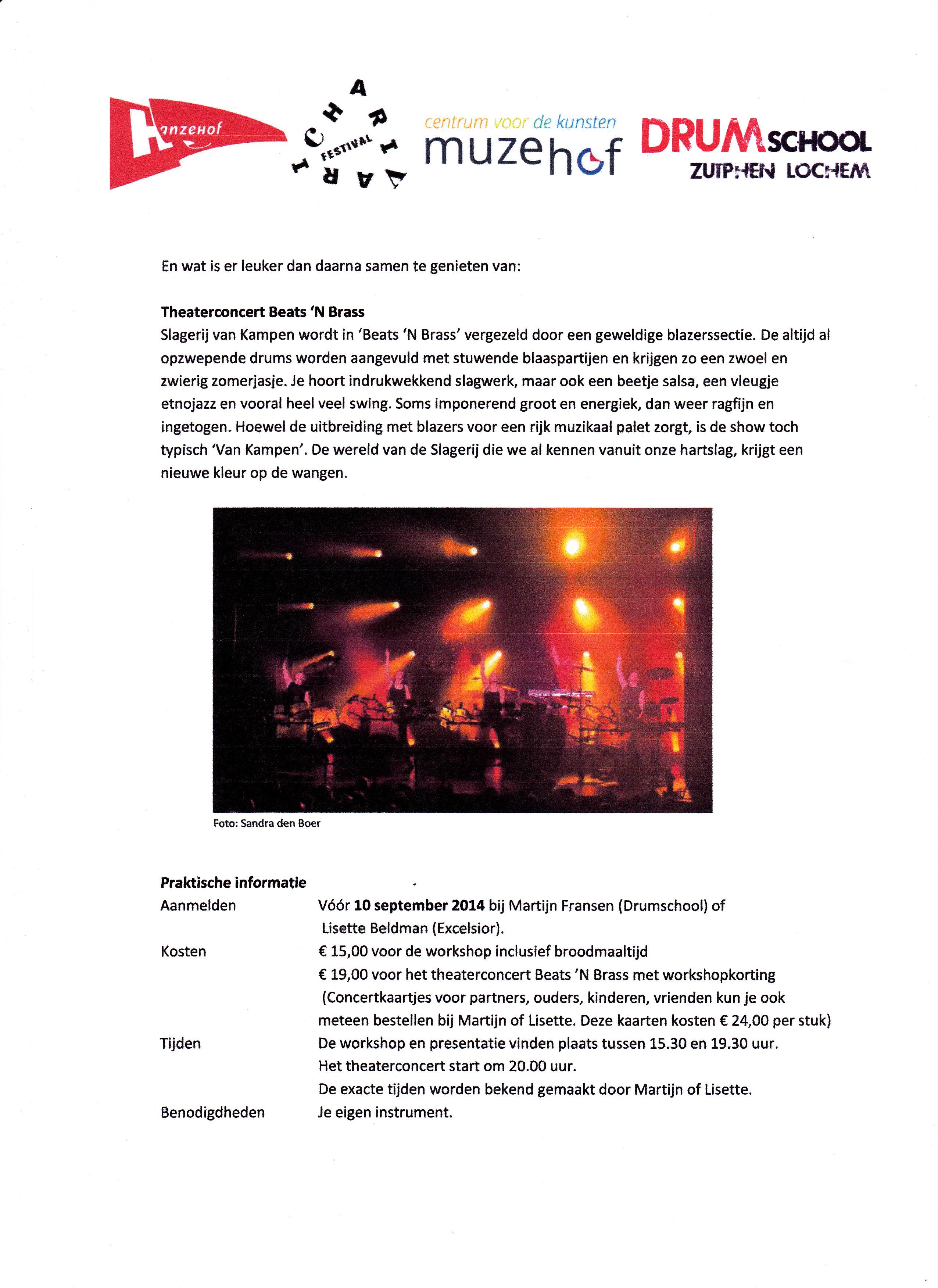 Uitnodiging workshop en concert Slagerij van Kampen 2